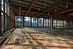 Large Interior of an Abandoned Pool area at a Resort in the Catskill's of New York State