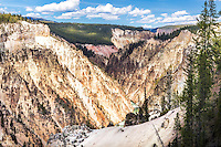 Grand Canyon of the Yellowstone River from the South Rim Trail. A hike along the south rim trail can reap rewards.