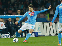 Federico Fernandez    in action during the Italian Serie A soccer match between SSC Napoli and Juventus FC   at San Paolo stadium in Naples, March 30 , 2014