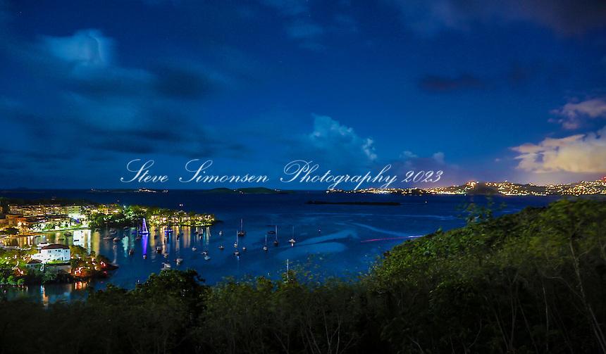 Cruz Bay, St. John<br /> U.S. Virgin Islands<br /> night scene