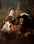 'The Prodigal Son in the Tavern' (Rembrandt and Saskia), c1635. From the Dresden Gallery, Dresden, Germany. *** Local Caption *** 'The Prodigal Son in the Tavern' (Rembrandt and Saskia), c1635.