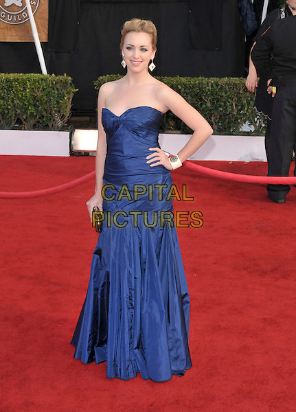 ANDREA BOWEN.Attends The 14th Annual Screen Actors Guild Awards, held at The Shrine Auditorium in Los Angeles, California USA, January 27th 2008..full length blue strapless dress hand on hip.CAP/DVS.©Debbie VanStory/Capital Pictures
