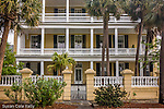 Stately antebellum mansion on The Battery, Charleston, SC, a National Historic Landmark district.