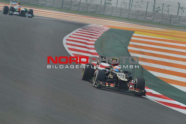 25.-27-10-2013, Jaypee-Circuit, Noida, IND, F1, Grosser Preis von Indien, Noida, im Bild  Romain Grosjean (FRA) Lotus Renault F1 Team <br />  Foto &copy; nph / Mathis