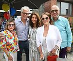 Sandi Durell, Steve Bakunas, Sarah Stern, Linda Lavin, Richard Ridge attend the Retirement Celebration for Sam Rudy at Rosie's Theater Kids on July 17, 2019 in New York City.