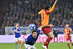 06.11.2018, Veltins-Arena, Gelsenkirchen, GER, CL, FC Schalke 04 vs Galatasaray Istanbul, DFL regulations prohibit any use of photographs as image sequences and/or quasi-video <br /> <br /> im Bild Kopfball / Kopfballduell Benjamin Stambouli (#17, FC Schalke 04) Younes Belhanda (#10, Galatasaray) <br /> <br /> Foto &copy; nordphoto/Mauelshagen