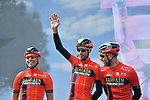 Vincenzo Nibali (ITA) and Bahrain-Merida at sign on before Stage 4 of the 2019 Giro d'Italia, running 235km from Orbetello to Frascati, Italy. 14th May 2019<br /> Picture: Massimo Paolone/LaPresse | Cyclefile<br /> <br /> All photos usage must carry mandatory copyright credit (© Cyclefile | Massimo Paolone/LaPresse)