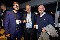 Pictured: Trevor Birch (C) and Steve Cooper (R). Thursday 17 October 2019<br /> Re: Swansea City AFC, City Business Network event at the Liberty Stadium, Wales, UK.