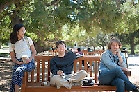 Students on Thursday, September 26, 2013 in the quad of Occidental College. (Photo by Aseem Mangaokar '15)
