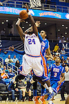 Texas-Arlington Mavericks forward Kevin Butler (24) in action during the game between the Houston Baptist Huskies and the Texas-Arlington Mavericks at the College Park Center arena in Arlington, Texas. UTA defeats Houston Baptist 81 to 47...