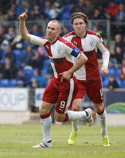 Kenny Miller celebrates his opening goal