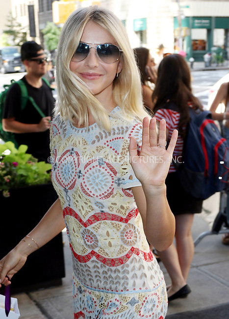 WWW.ACEPIXS.COM<br /> <br /> September 16 2015, New York City<br /> <br /> Dancer Julianne Hough arrives at a downtown hotel on September 16 2015 in New York City<br /> <br /> By Line: Zelig Shaul/ACE Pictures<br /> <br /> <br /> ACE Pictures, Inc.<br /> tel: 646 769 0430<br /> Email: info@acepixs.com<br /> www.acepixs.com