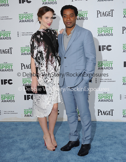Chiwetel Ejiofor and Sari Mercer<br /> <br />  attends The 2014 Film Independent Spirit Awards held at Santa Monica Beach in Santa Monica, California on March 01,2014                                                                               © 2014 Hollywood Press Agency