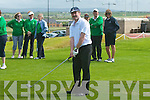 Claude O'Connor, Tralee, gets in the swing at the West Munster Competition at Ballybunion golf club on Wednesday evening...   Copyright Kerry's Eye 2008