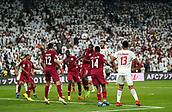 29th January 2019, Mohammed bin Zayed Stadium, Abu Dhabi, United Arab Emirates; AFC Asian Cup football semi final, Qatar versus United Arab Emirates; Ali Mabkhout of United Arab Emirates wins the header on goal before Abdelkarim Hassan of Qatar