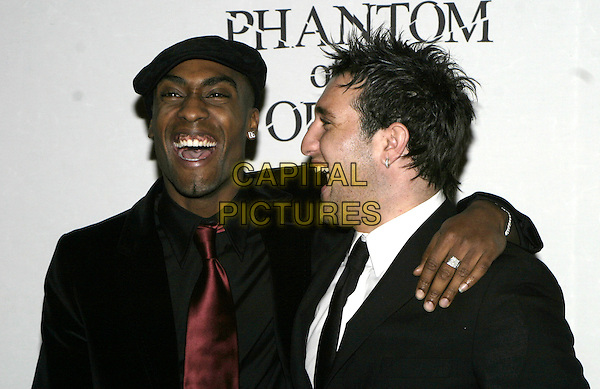 "SIMON WEBBE & ANTONY COSTA (BLUE).""The Phantom of the Opera"" World Premiere Party,.Grand Hall Olympia, London, December 6th 2004..portrait headshot web Anthony.Ref: AH.www.capitalpictures.com.sales@capitalpictures.com.©Capital Pictures."