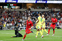 St. Paul, MN - Tuesday June 18, 2019: Paul Arriola celebrates during a 2019 CONCACAF Gold Cup group D match between the United States and Guyana on June 18, 2019 at Allianz Field in Saint Paul, Minnesota.