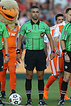 22 August 2015: Referee Nima Saghafi. The Carolina RailHawks hosted the New York Cosmos at WakeMed Stadium in Cary, North Carolina in a North American Soccer League 2015 Fall Season match. Cosmos won the game 3-1.