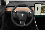 Car pictures of steering wheel view of a 2019 Tesla Model-3 Performance 4 Door Sedan