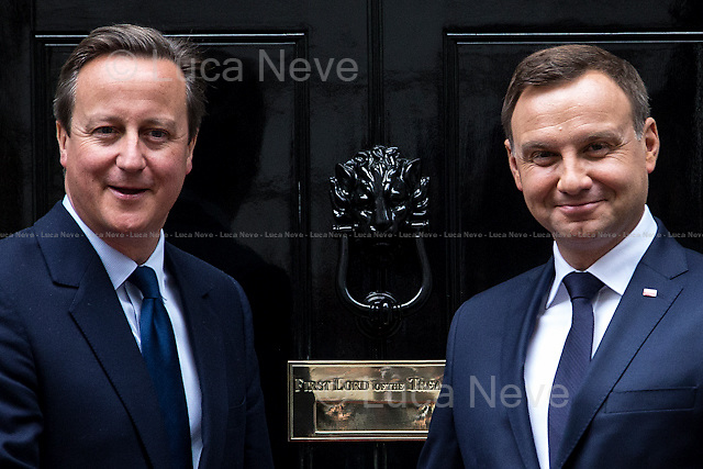 London, 15/09/2015. Today, the President of the Republic of Poland, Andrzej Duda, visited 10 Downing Street for an hour meeting with the British Prime Minister David Cameron.