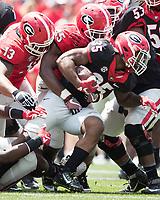 Athens, GA - April 22, 2017: The Georgia Bulldogs G-day Spring practice at Sanford Stadium.