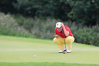 Alejandro Del Ray of Team Spain on the 5th green during Round 4 of the WATC 2018 - Eisenhower Trophy at Carton House, Maynooth, Co. Kildare on Saturday 8th September 2018.<br /> Picture:  Thos Caffrey / www.golffile.ie<br /> <br /> All photo usage must carry mandatory copyright credit (© Golffile | Thos Caffrey)