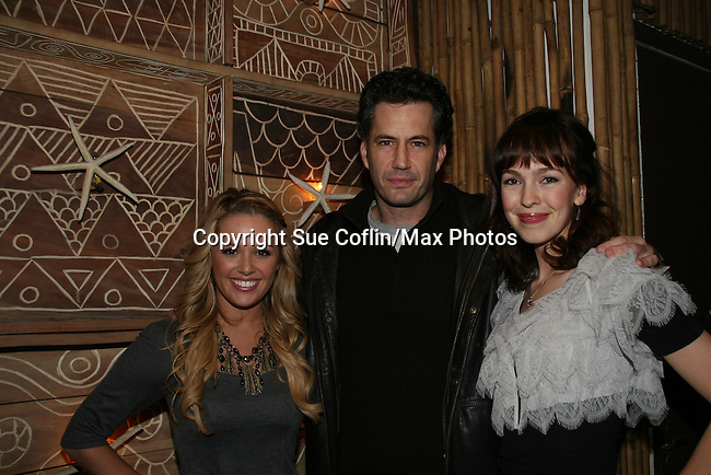 All My Children's Natalie Hall & Michael Lowry & Brittany Allen at Marcia Tovsky's Holiday/Bon Voyage Party for AMC on December 1, 2009 at Nikki Midtown, New York City, New York. (Photo by Sue Coflin/Max Photos)