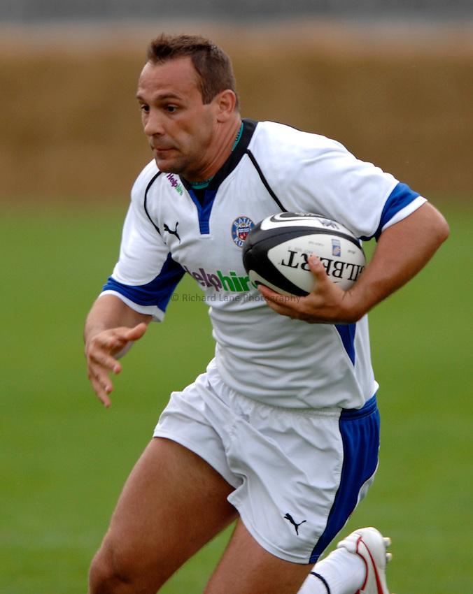 Photo: Richard Lane..Bath Rugby v Parma. Pre Season Friendly. 16/08/2006. .Bath's David Bory attacks.