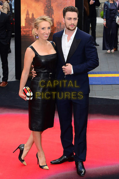LONDON, ENGLAND - MAY 11:  Sam Taylor-Wood; Aaron Taylor-Johnson attend Godzilla UK film premiere, remake of action adventure, featuring the iconic film monster that terrorises Japan, at Odeon Leicester Square, 24-26 Leicester Square, on May 11, 2014, in London, England.  <br /> CAP/JOR<br /> &copy;Nils Jorgensen/Capital Pictures