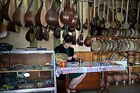 Uzbekistan - Tashkent - A shop selling traditional music instruments.