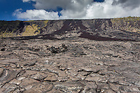 Old lava flow along Chain of Craters Road in Hawaii Volcanoes National Park, Big Island, Hawaii