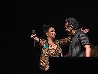"""SÃO PAULO, SP. 03.10.2019 - SHOW-SP -Maria Rita e Simoninha, durante show em homenagem à Simonal, """"Novo Baile do Simonal"""", no Tom Brasil, em São Paulo, nesta quinta-feira, 03. (Foto: Bruna Grassi / Brazil Photo Press)"""