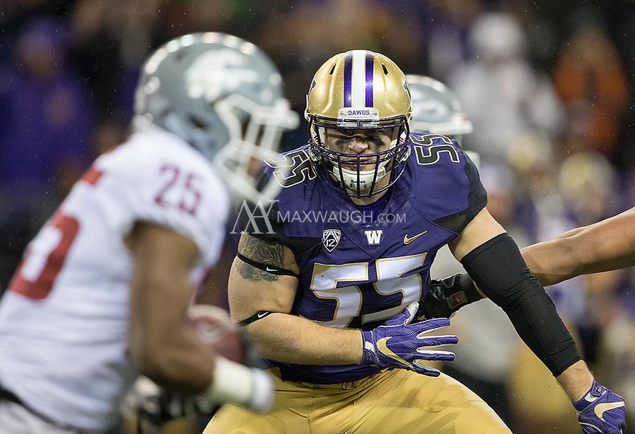 Ryan Bowman tracks Cougar running back Jamal Morrow.