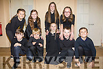 Junior Choir members from the Iveragh Music School who performed at A Carnegie Christmas in the Cahersiveen Community Resource Centre at the weekend pictured front l-r; John O'Connell, Dylan Hulme, Aoife Wharton, Dáithí O'Shea, Alfie McCarthy, back l-r; Niamh Dineen, Paris McCarthy, Cadhla Guiney & Hannah O'Shea.