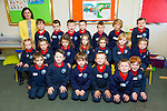 Miss Crowley's Junior Infants class at their first day of school in Listellick on Thursday