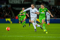Gylfi Sigurdsson of Swansea in action  during the Barclays Premier League match between Swansea City and Sunderland played at the Liberty Stadium, Swansea  on  January the 13th 2016