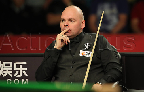 1st February 2019, Berlin, Germany; Snooker Berlin German Masters in Tempodrom;  Stuart Bingham  thinks about his next shot