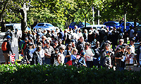 Fans and supporters queue outside Hagley Oval.<br /> New Zealand Blackcaps v England. 5th ODI International one day cricket, Hagley Oval, Christchurch. New Zealand. Saturday 10 March 2018. &copy; Copyright Photo: Andrew Cornaga / www.Photosport.nz
