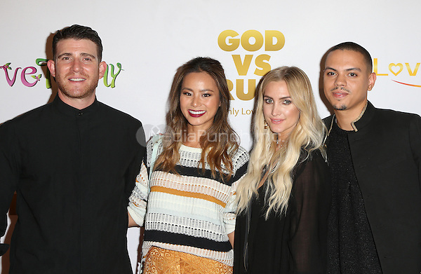 "Hollywood, CA - NOVEMBER 07: Bryan Greenberg, Jaime Chung, Ashlee Simpson, Evan Ross at Premiere Of ""God vs Trump"" At TCL Chinese Theatre, California on November 07, 2016. Credit: Faye Sadou/MediaPunch"