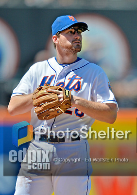 25 July 2012: New York Mets infielder Daniel Murphy in action against the Washington Nationals at Citi Field in Flushing, NY. The Nationals defeated the Mets 5-2 to sweep their 3-game series. Mandatory Credit: Ed Wolfstein Photo