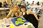 One Life To Live Kristen Alderson paints with Tierney at the Painting Party on May 15, 2011 on Marco Island, Florida - SWSL Soapfest Charity Weekend May 14 & !5, 2011 benefitting several children's charities including the Eimerman Center providing educational & outreach services for children for autism. see www.autismspeaks.org. (Photo by Sue Coflin/Max Photos)