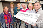 Lisa Ragosa, third from left, pictured as she presented a cheque for € 910 to Eugene O'Sullivan, Irish Cancer Society, after her recent Ladies Night Out with Ann Summers. Also pictured are Anastasia Dempsey, Kathrina Breen, Timmy Moriarty and Kathleen Bowler..............