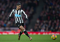 Ayoze Pérez of Newcastle United during the Premier League match between Arsenal and Newcastle United at the Emirates Stadium, London, England on 16 December 2017. Photo by Vince  Mignott / PRiME Media Images.