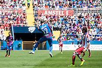VALENCIA, SPAIN - MARCH 10: Juanfran during BBVA LEAGUE match between Levante U.D. Andr Atletico de Madrid at Ciudad de Valencia Stadium on March 10, 2015 in Valencia, Spain