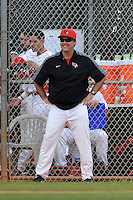 Illinois State Redbirds head coach Bo Durkac during a game against the Bucknell Bison on March 8, 2015 at North Charlotte Regional Park in Port Charlotte, Florida.  Bucknell defeated Illinois State 13-8.  (Mike Janes Photography)