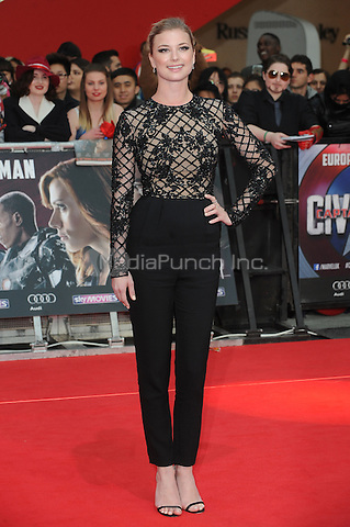 LONDON, ENGLAND - APRIL 26: Emily Vancamp attends the European premiere of Captain America: Civil War at Westfield Shopping Centre on April 26, 2016 in London, England.<br /> CAP/BEL<br /> &copy;BEL/Capital Pictures /MediaPunch ***NORTH AMERICAN AND SOUTH AMERICAN SALES ONLY***