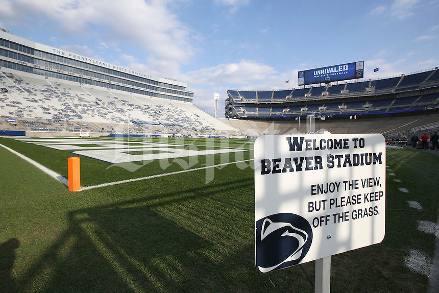 Four hours before the start of this evening's game against the Ohio State Buckeyes at Beaver Stadium on October 25, 2014.  (Chris Russell/Dispatch Photo)