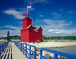 Allegan County, MI        © Terry Donnelly  /<br /> Holland Harbor lighthouse on channel between Lake Michigan and Lake Macatawa