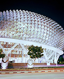 SINGAPORE, low angle view of Esplanade Concert hall