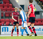 St Johnstone v Dundee&hellip;30.12.17&hellip;  McDiarmid Park&hellip;  SPFL<br />A-Jay Leitch-Smith and David Wotherspoon square-up<br />Picture by Graeme Hart. <br />Copyright Perthshire Picture Agency<br />Tel: 01738 623350  Mobile: 07990 594431